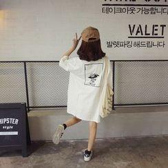 MISS YOYO - Printed Short-Sleeve Polo Shirt