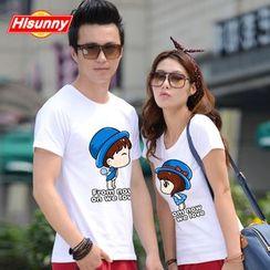 Arturo - Couple Matching Short-Sleeve Print T-Shirt