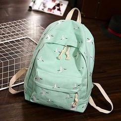 Youme - Crane Embroidered Backpack