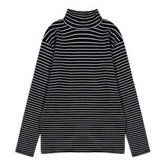 Dasim - Striped Long Sleeve Turtleneck T-Shirt