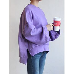 STYLEBYYAM - Wide-Sleeve Dip-Back Pullover