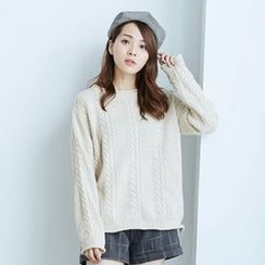 BAIMOMO - Cable-Knit Sweater