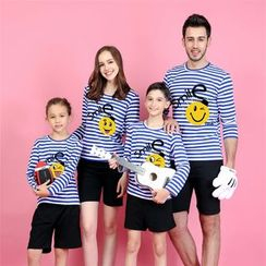Panna Cotta - Sun Print Long Sleeve Family Matching T-Shirt