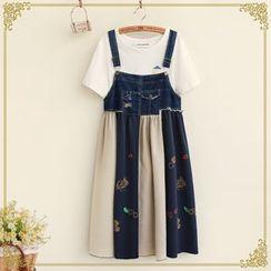 Fairyland - Denim Panel Jumper Skirt
