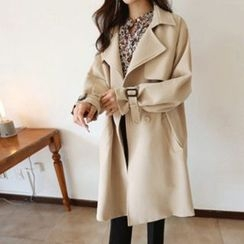 Hello sweety - Double-Breasted Trench Coat