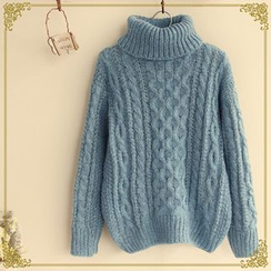 Fairyland - Cable-Knit Turtleneck Sweater
