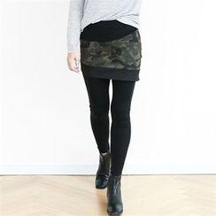 GLAM12 - Inset Camouflage Skirt Leggings