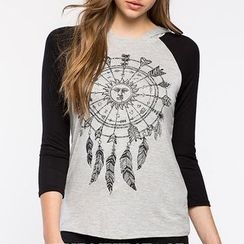 Rebecca - Print Raglan Long-Sleeve T-shirt
