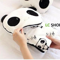 Lazy Corner - Set: Convertible Panda Blanket + Slipcase