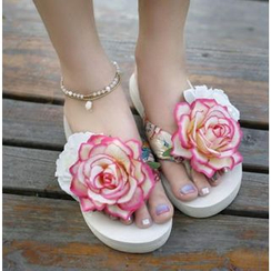 Trava - Flower Flip Flops