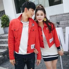 Igsoo - Couple Matching Patch Jacket