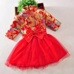 Showtime - 小童旗袍薄纱连衣裙