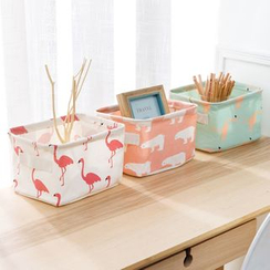 Home Simply - Linen Printed Desk Organizer (S)