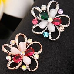 Glitglow - Crystal Flower Brooch
