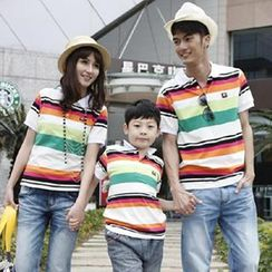 Igsoo - Parents and Kids Striped Polo Shirt