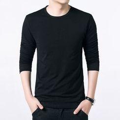 JEUX - Plain Long-Sleeve T-shirt