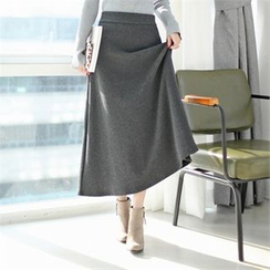 Styleberry - Brushed Fleece Lined Maxi Skirt