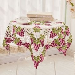 Yira - Grape Embroidered Tablecloth