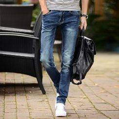 Croni - Washed Straight Leg Jeans