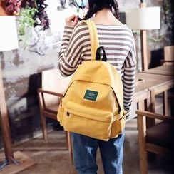 Seok - Applique Canvas Backpack