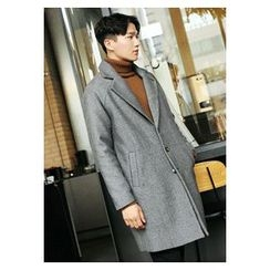HOTBOOM - Wool Blend Raglan-Sleeve Coat