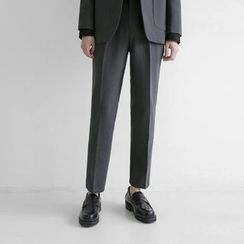 Seoul Homme - Pleated-Front Dress Pants