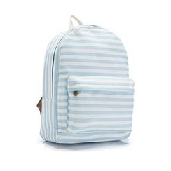 YUNA - Striped Canvas Backpack