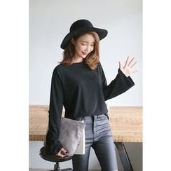 PPGIRL - Round-Neck Bell-Sleeve Top