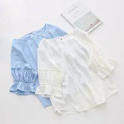 Meimei - 3/4 Frill Sleeve Top