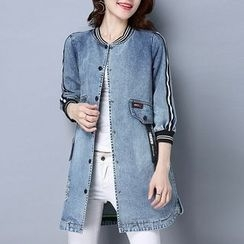 Romika - Panel Long Denim Jacket