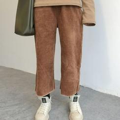 Cloud Nine - 灯芯绒短款阔脚裤