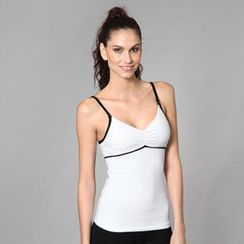 Almaz.C Active - Sleeveless Contrast-Trim Empire Yoga Top