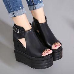 安若 - 露趾船跟踝靴