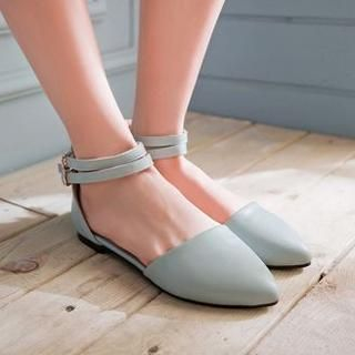 77Queen - Ankle-Strap Flats