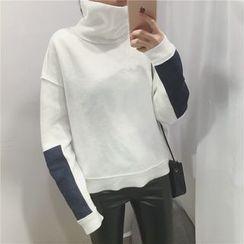 Alfie - Color-Block Turtleneck Sweatshirt