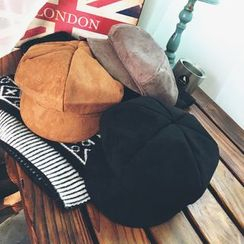 FROME - Faux Suede Newsboy Cap