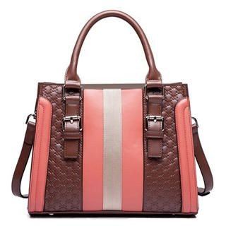 MBaoBao - Color-Block Embossed Satchel