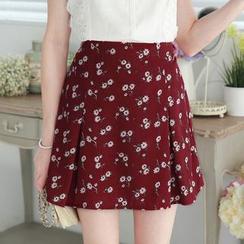 Tokyo Fashion - Floral A-Line Skirt