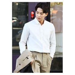 HOTBOOM - Cotton Plain Shirt