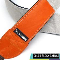 Vlashor - 橙色PU +灰白色布(上下两色)相机带