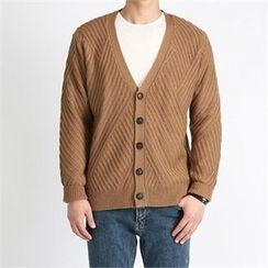 THE COVER - V-Neck Buttoned Cardigan