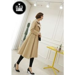 Lemite - Double-Breasted A-Line Trench Coat