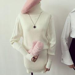 Honeydew - 樽領針織連衣裙