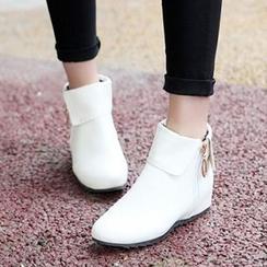 Tomma - Hidden Wedge Short Boots