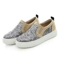 Mancienne - Sequined Slip-Ons
