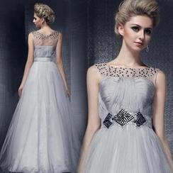 Bridal Workshop - Sleeveless Embellished A-Line Evening Gown