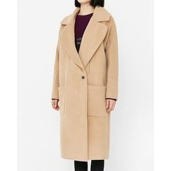 Someday, if - Wide-Collar Wool Blend Coat