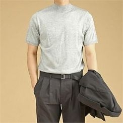 THE COVER - Crew-Neck Short-Sleeve Knit Top
