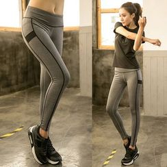 PUDDIN - Sports Quick Dry Panel Skinny Pants