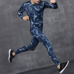 MaxBlue - Sport Set: Long-Sleeve T-Shirt + Pants / Sport Set: Short-Sleeve T-Shirt + Pants
